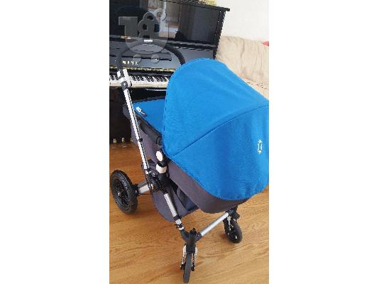 PoulaTo: BUGABOO CAMELEON 2 W/BASSINET, FOOT MUFF, AND TRAVEL BAG - BLUE