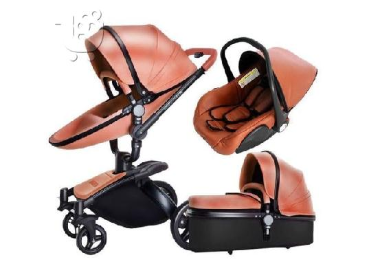 PoulaTo: Baby Stroller 3 in 1 Car Seat Folding Baby Carriage Child Newborn Travel System