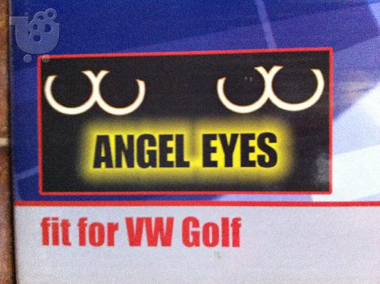 PoulaTo: VW Golf V, Φανάρια Angel Eyes k Black Led