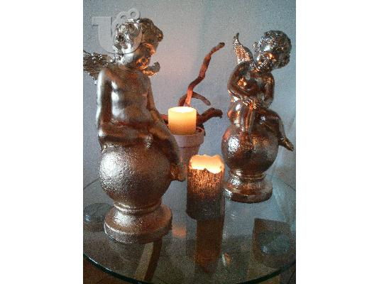 PoulaTo: HAND MADE CANDL HOLDERS-VENECIANS ANGELS-& DECOR ITEMS-BY NIKOS TSOKOS.