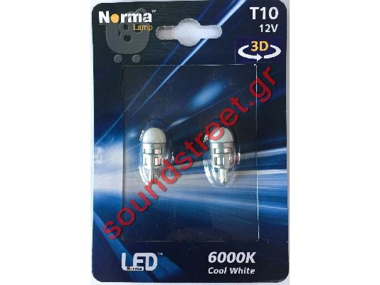 PoulaTo: Led T10 W5W Norma 3D Cool White 6000K