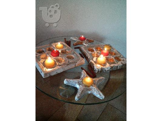 HAND MADE CANDL HOLDERS-VENECIANS ANGELS-& DECOR ITEMS-BY NIKOS TSOKOS.