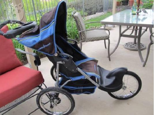 PoulaTo: Baby Trend Jogger Jogging Stroller Blue EUC Expedition