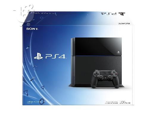PoulaTo: Sony PlayStation 4 (τελευταίο μοντέλο) - 500 GB Jet Black Console Brand New !!