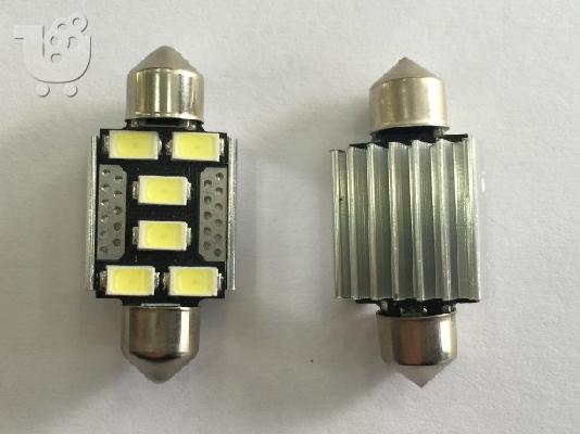 PoulaTo: Led σωληνωτό 36mm Canbus 6 SMD