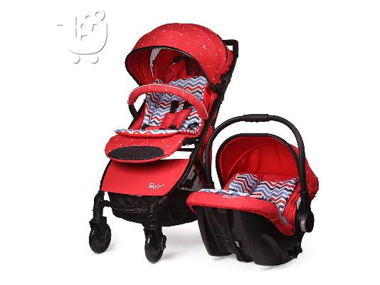 PoulaTo: High-view Baby Stroller 2 in 1 Car Seat folding Bidirectional travel Pushchair..