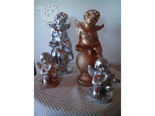 HAND MADE CANDLE- HOLDERS- ANGELS-MADONNAS& DECOR ITEMS-BY NIKOS TSOKOS.