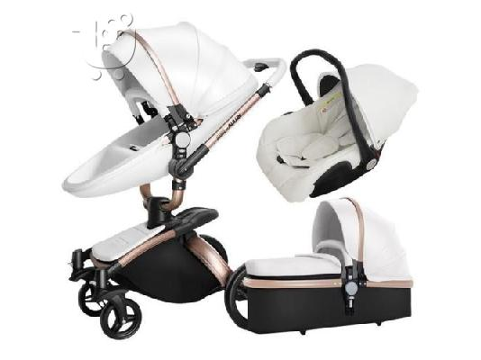 Baby Stroller 3 in 1 Car Seat Folding Baby Carriage Child Newborn Travel System