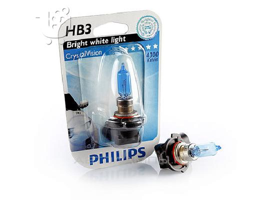 PoulaTo: Λάμπες Philips Crystal Vision HB3 4300K 65W Κωδικός 9005CVB1