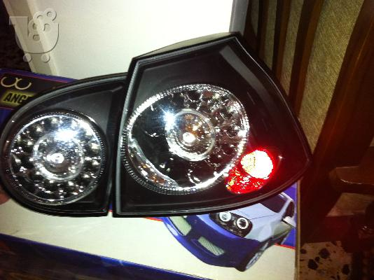VW Golf V, Φανάρια Angel Eyes k Black Led