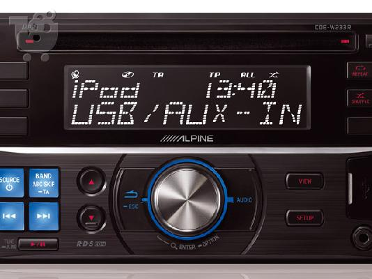 PoulaTo: Radio CD MP3 USB 2 DIN Alpine CDE-W233R