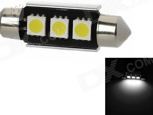 PoulaTo: Led Canbus Σωληνωτό 3 SMD White 36mm